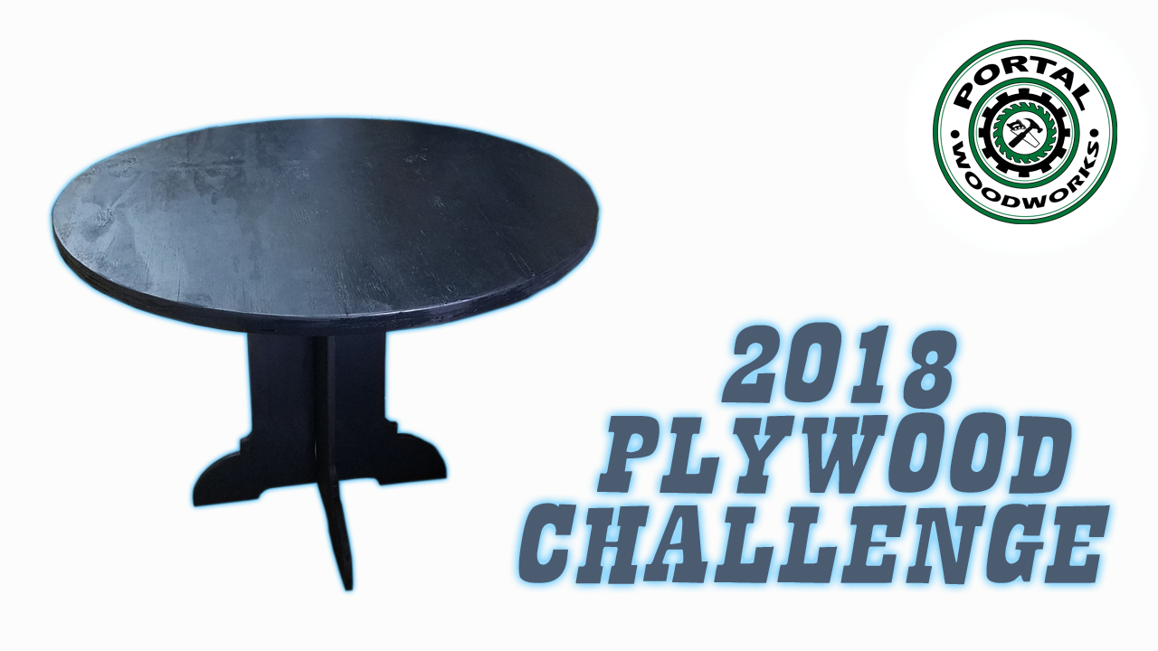 Table for Portal Woodworks 2018 Plywood Challenge